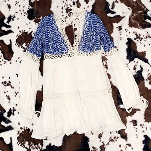 Free people blue and white dress